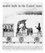 American Locomotive, 1830 Fleece Blanket