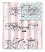 American Made Corvette Patent Fleece Blanket
