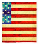 American Money Flag Fleece Blanket