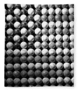 American Pastime In Black And White Fleece Blanket