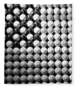 American Pastime In Black And White1 Fleece Blanket