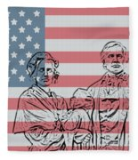 American Patriots Fleece Blanket