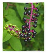 American Pokeweed  Fleece Blanket