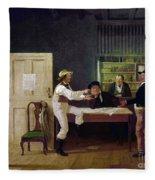 American Politicians, 1844 Fleece Blanket