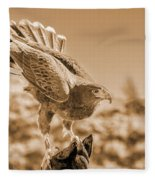 American Red Tail Hawk Fleece Blanket