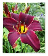American Revolution Daylily Fleece Blanket