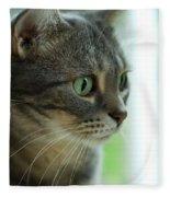 American Shorthair Cat Profile Fleece Blanket