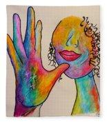 American Sign Language . . .  Mother Fleece Blanket