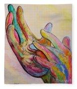 American Sign Language Jesus Fleece Blanket