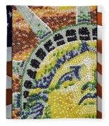 American Statue Of Liberty Mosaic  Fleece Blanket