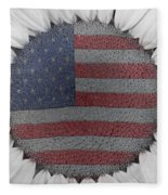 American Sunflower Power Fleece Blanket