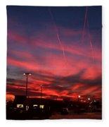 American Sunset Fleece Blanket