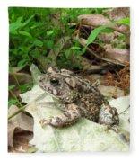 American Toad Fleece Blanket