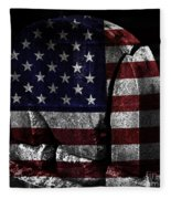 American Tombstone Fleece Blanket