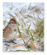American Tree Sparrow Fleece Blanket