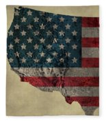 American West Topography Map Fleece Blanket