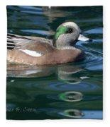 American Widgeon Duck Fleece Blanket