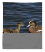American Widgeon Pair Fleece Blanket