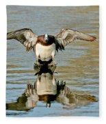 American Wigeon Drake Fleece Blanket