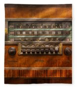 Americana - Radio - Remember What Radio Was Like Fleece Blanket