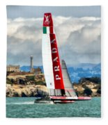 America's Cup And Alcatraz Ll Fleece Blanket