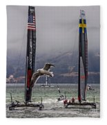 Americas Cup Oracle Team Usa V Artemis Racing Fleece Blanket