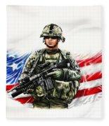 Americas Guardian Angel Fleece Blanket