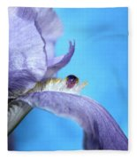 Amethyst Iris Fleece Blanket
