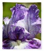 Amethyst Iris Fleece Blanket