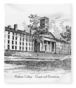 Amherst College - Chapel And Dormitories Fleece Blanket
