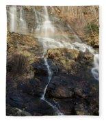 Amicalola Falls  Rainbow Fleece Blanket