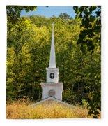Amidst The West Virginia Woods Fleece Blanket