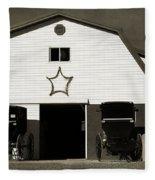 Amish Barn And Buggies Fleece Blanket