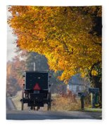 Amish Buggy Fall 2014 Fleece Blanket