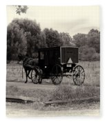Amish Buggy Sept 2013 Fleece Blanket