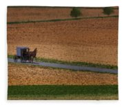Amish Country Lancaster Pennsylvania Fleece Blanket
