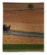 Amish Country Lancaster Pennsylvania Fleece Blanket