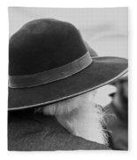 Amish Faces Fleece Blanket