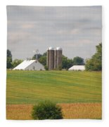 Amish Farm 2 Fleece Blanket