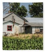 Amish Farm In Tennessee Fleece Blanket