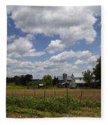 Amish Farm Landscape Fleece Blanket