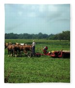 Amish Field Work Fleece Blanket