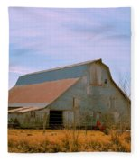 Amish Metal Barn Fleece Blanket