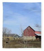 Amish Panorama Fleece Blanket
