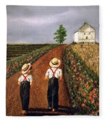 Amish Road Fleece Blanket