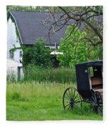 Amish Way Of Life Fleece Blanket