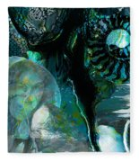 Ammonite Seascape Fleece Blanket