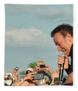 Among The Crowd Fleece Blanket