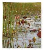 Among The Waterlillies 2 Fleece Blanket