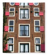 Amsterdam Architecture Fleece Blanket